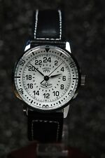 Russian mechanical watch RAKETA PILOT. 24H White dial. 34 mm