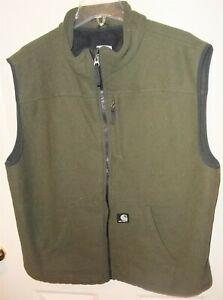 Carhartt V28 OLV Men's Olive Green Full Zip Textured Polyester Fleece Vest XL