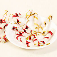 12X Christmas Candy Cane Ornaments Party Xmas Tree Hanging Decoration JP