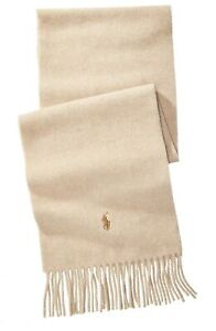Polo Ralph Lauren Men's Cashmere Blend Scarf One Size Color Honey Brown New