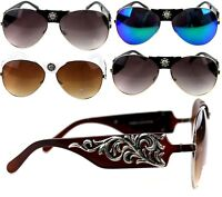 Montana West Concho Collection Sunglasses Bling Bling Western Designer Glasses