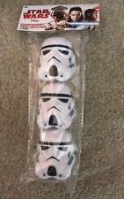 Star Wars Stormtrooper Helmet Package of 3 Party Treat Containers Figural NEW