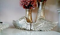 Small Set of Angel Wings Silver Home Decor Ornament Unique Vintage Shabby Chic