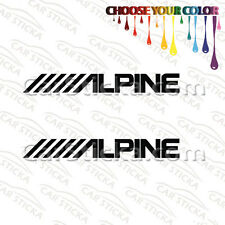 "2 of 8"" Alpine Audio /A aftermarket car window bumper stickers decals"
