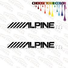 "2 of 8"" Alpine Audio /A aftermarket car window bumper stickers decals"