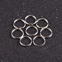 10Pcs 10mm Keyring Blanks Metallloy Keychain Key Fob Split Rings Fast