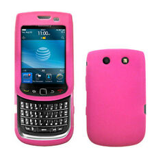 Silicone Skin Case for Blackberry Torch 9800/9810 - Hot Pink