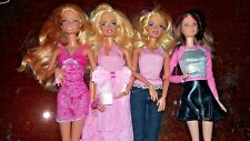 Lots of 4 Barbie fashionistas dolls