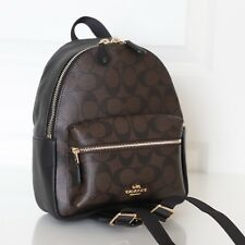 NWT Coach F58315 Mini Charlie Signature Backpack Bag Brown Black $295
