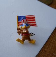 Vintage 1984 Summer Olympic Games 3D Sam the Olympic Eagle U.S. Flag pin