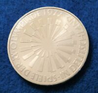 1972 G - Germany 10 Mark - Munich Olympics - UNC Silver Coin - See PICS