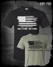 Stand For The Anthem T-Shirt I Don't Kneel NFL Boycott American Flag Patriotic