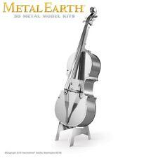 Fascinations Metal Earth Bass Fiddle Violin Band Laser Cut 3D Model
