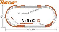 Roco H0 61103 geoLine Gleis-Set D 26 teilig mit 3 Weichen - NEU + OVP