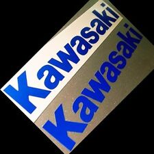 """Kawasaki Stickers/Decals (4 x 3.5"""" Reflective Blue Material) Shipping $1 in US"""