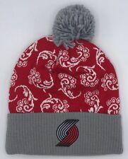 Basketball Nba Portland Trail Blazers Adidas Womens Cuffed Pom Winter Knit Cap Hat #ks85w