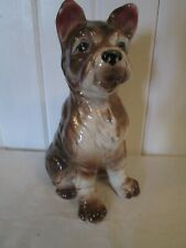 "New listing Large Vintage Procelain Sitting Shaggy Puppy Dog Figurine Signed ""Japan"" 8 78"""