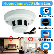 HIDDEN CCTV SECURITY CAMERA 1/3 Sony 650 TVL Day 3.6mm Smoke Detector