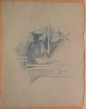 Dessin Original LUBIN DE BEAUVAIS XIXe - Rendez-vous - Art Nouveau LB44