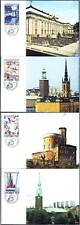 Sweden Castle Church Canal History Stockholm Sweden Mint Maxi Cards FDC 1985