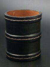 More details for vintage dice shaker cup genuine calf leather made in italy