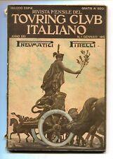 RIVISTA MENSILE DEL TOURING CLUB ITALIANO Anno XXI N.1 Gennaio 1915
