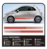 Adesivi FIAT 500 stile abarth per 500 stickers decals KIT fasce laterali