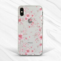 Pink Girly Cherry Blossom Flowers Case For iPhone 6 7 8 Xs XR 11 Pro Plus Max