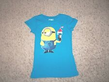 New 'Despicable Me' Blue Short Sleeve Minion Holding Ice Cream T/Shirt Size S