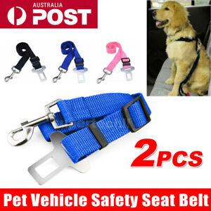2pcs Pet Car Vehicle Seat Belt Safety Seat belt Harness Leash Lead Dog Cat Adjus