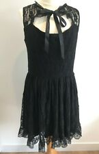 Spin Doctor Selena Mini Dress Black Lace Gothic Rose Steampunk New Size L