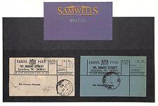 MS1515 1895 'X-lista designación W16' London etiquetas de Parcel Post de montaje de la calle
