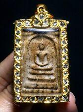PHRA SOMDEJ TOH WAT RAKUNG.OLD CASE Thai Buddha Amulet