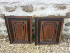 Lot 2 ancienne portes de meuble en bois Henri 2 pour placard vintage