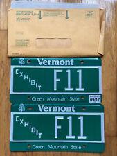 Vermont License Plate   Exhibit F11 Original Envelope