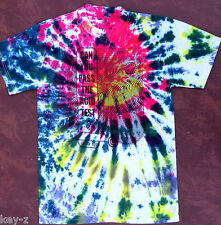 CAN YOU PASS THE ACID TEST? swirl New T-Shirt S-M-L-XL Kesey Grateful Dead Dye