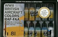 VAL71189 Model Air Set WWII British Aircraft Colours RAF/FAA x16 airbrush paint
