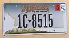 "MONTANA 2008 LOW NUMBER AUTO PASSENGER LICENSE PLATE "" 1C 8515 "" MT 08 BUTTE"