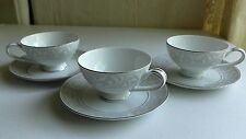 Mikasa Fine China Winthrop 5401 Tea Coffee Cups Plate Saucer Replacements Lot 3