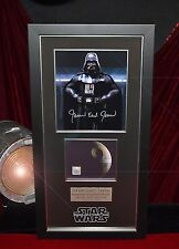 STAR WARS Screen-Used Prop DEATH STAR Signed JAMES EARL JONES COA Frame DVD UACC
