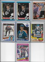 """Wayne Gretzky """"The Great One"""" Lot of (7) Vintage 1980 1984 1985 HOF EX BV$80.00"""