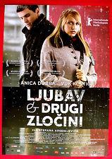 LOVE AND OTHER CRIMES 2008 ANICA DOBRA VUK KOSTIC M.DRAVIC SERBIAN MOVIE POSTER