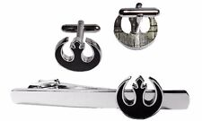 STAR WARS BLACK REBEL ALLIANCE TIE CLIP AND CUFFLINK SET PREMIER QUALITY