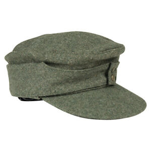 "WW2 German Army WH M43 Wool Field Cap ""Bergmütze"" Field Grey WW2 - Repro"