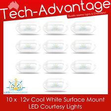 10 X 12V COOL WHITE LED SURFACE MOUNT COURTESY ACCENT LIGHT - CAR/BOAT/CARAVAN