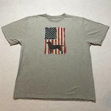 The Black Dog T-Shirt Size M Gray Short Sleeve Crew Neck American Flag Mens
