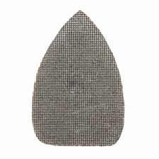 10x 140mm 80 Grit Hook Loop Silicon Carbide Mesh Detail Triangle Sanding Sheets
