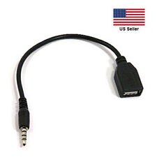 3.5mm Male to USB A Female Audio Adapter Cable