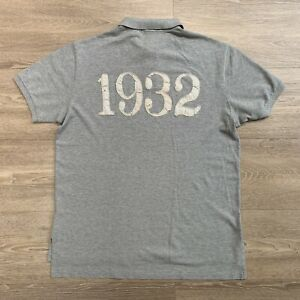 RALPH LAUREN POLO SHIRT LXVII POLO RL COMPETITION 1932 LOS ANGELES GREY SIZE XL