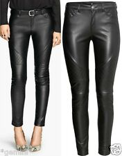 H&m 40/UK 14 Skinny Biker pantalones de cuero de imitación cuero faux Leather trousers leggings